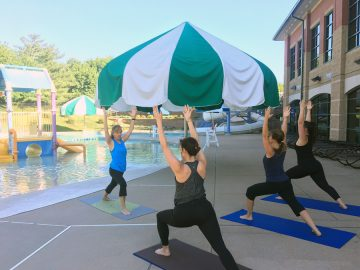 Sunrise Poolside Yoga featured